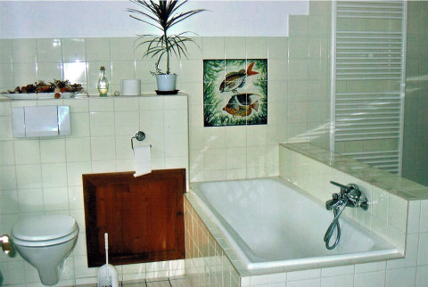 Badezimmer im Appartment